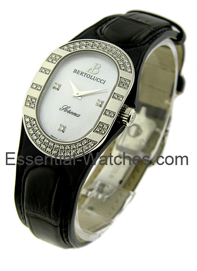 Bertolucci Serena in Steel with Partial Diamond Bezel
