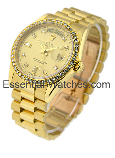 Rolex Used Men''s Yellow Gold Double Quick PRESIDENT 18238