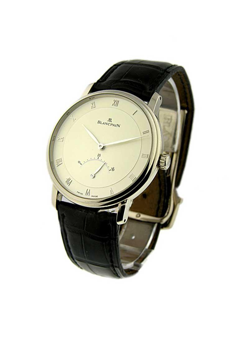 Blancpain Villeret Ultra Slim 30 Seconds Retrograde 40mm Auomatic in White Gold
