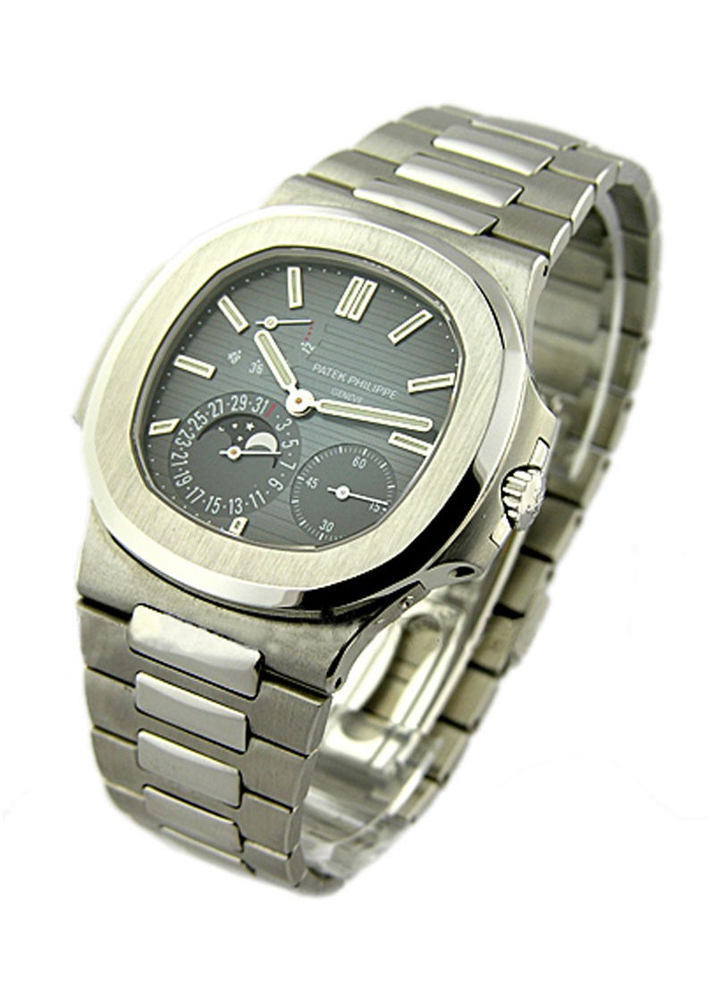 Patek Philippe Jumbo Nautlilus 5712 Moon Phase in Steel