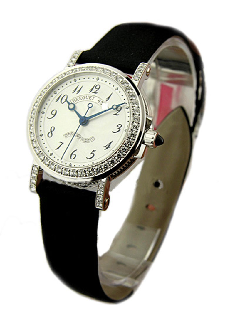 Breguet Marine II Automatic Lady''s Size 30mm in White Gold with Diamonds Bezel