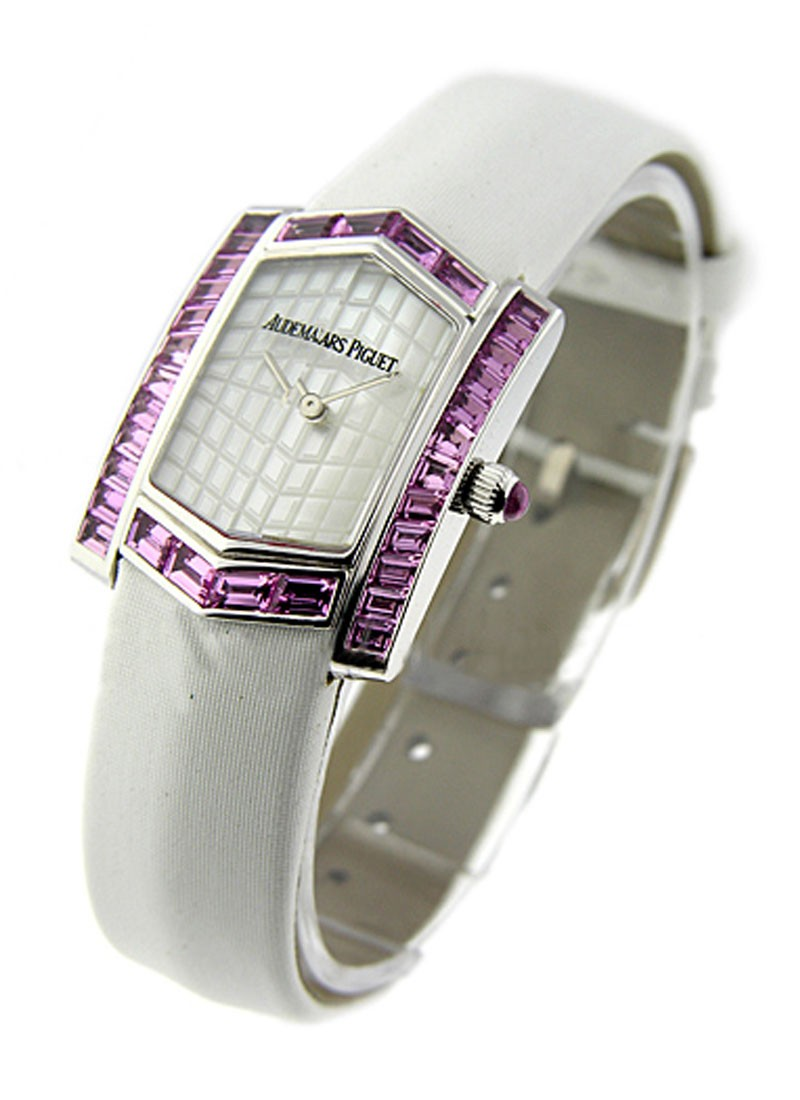 Audemars Piguet Facettes Lady's Collection in White Gold with Purple Sapphire