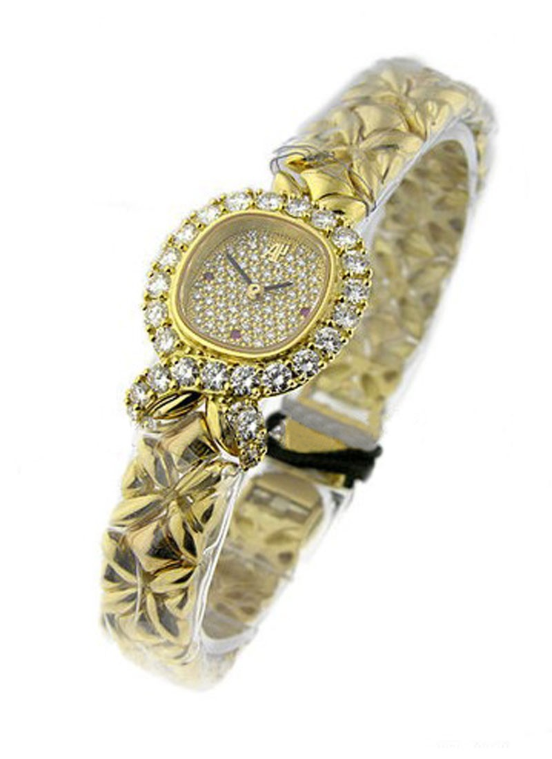 Audemars Piguet Oval Boutique Item  in Yellow Gold with Diamond Bezel