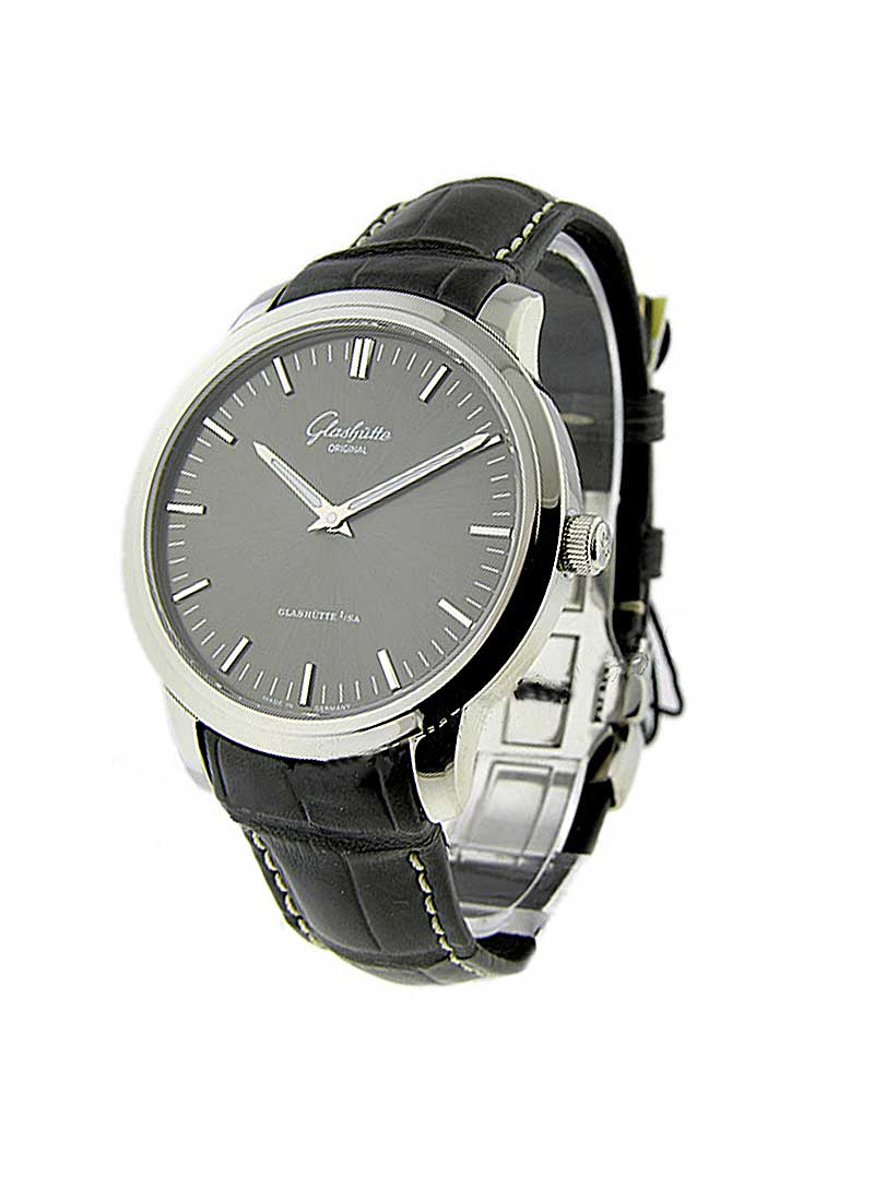 Glashutte Senator 40mm Automatic in Stainless Steel