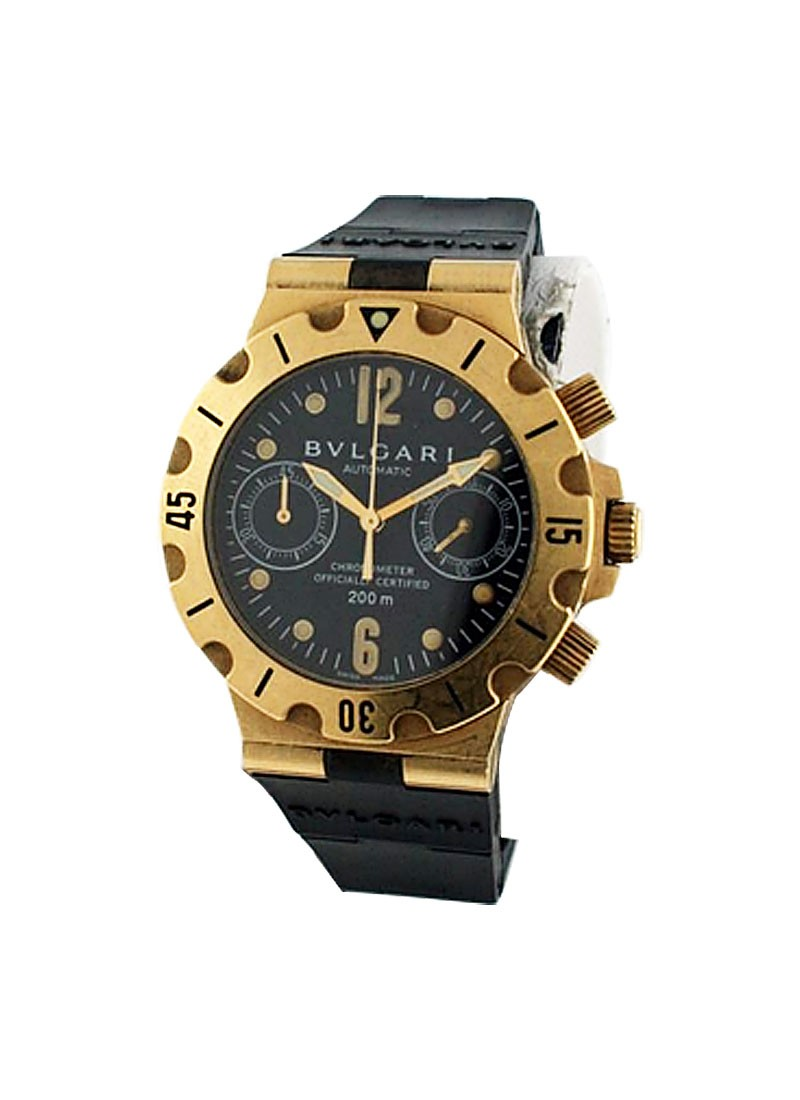 Bvlgari Diagono Professional Chronograph in Yellow Gold