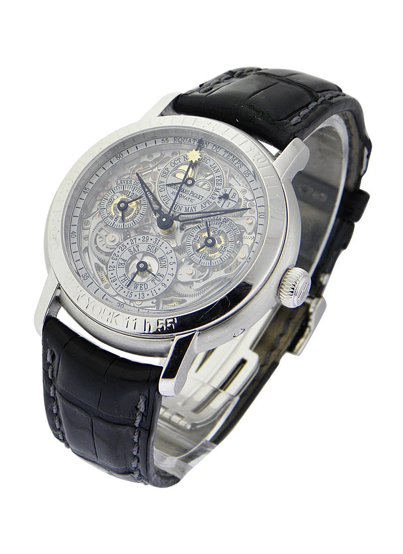 Audemars Piguet Equation of Time Perpetual Calendar Skeleton in Patinum