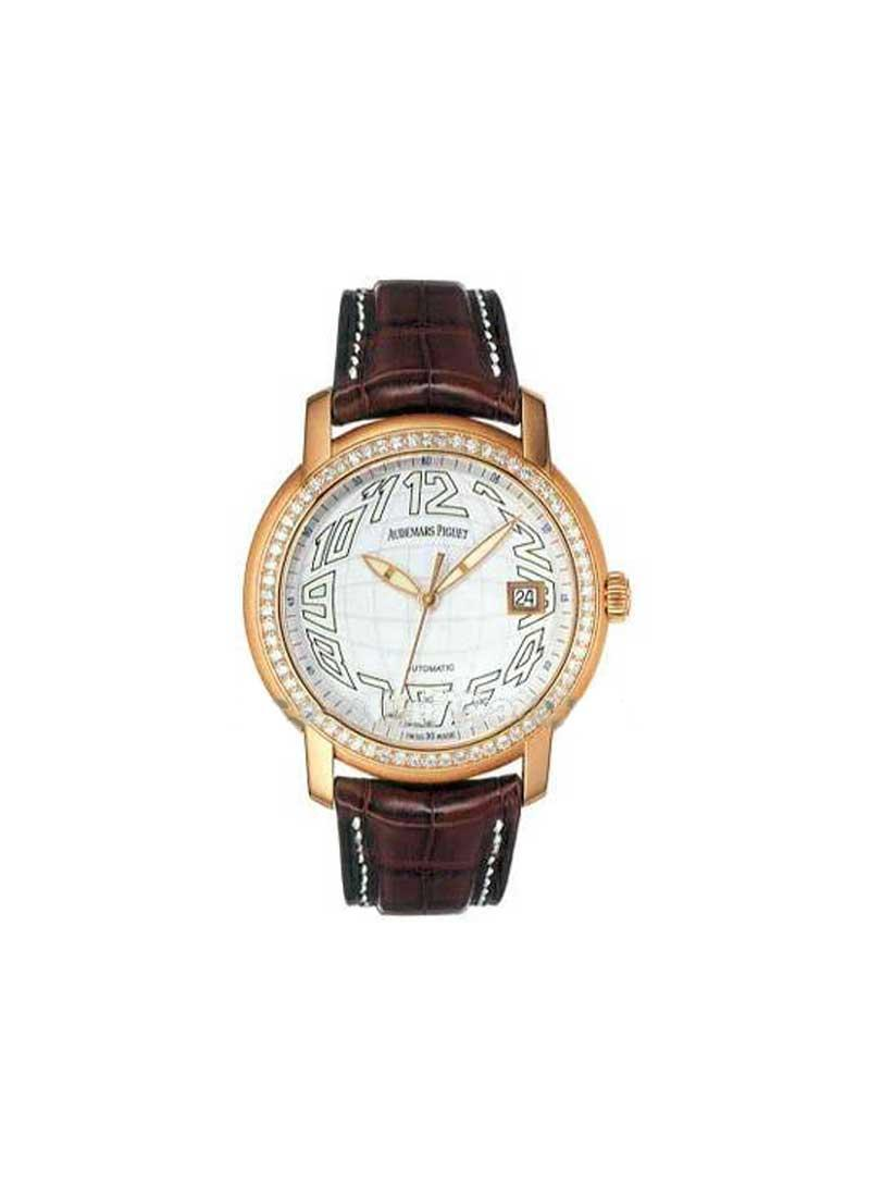 Audemars Piguet Jules Audemars The Globe in Rose Gold with Diamond Bezel