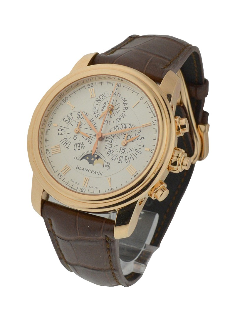 Blancpain La Brasus Split Second Perpetual Chronograph 42mm Automatic in Rose Gold