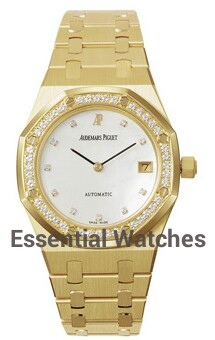Audemars Piguet Royal Oak Automatic in Yellow Gold with Diamond Bezel