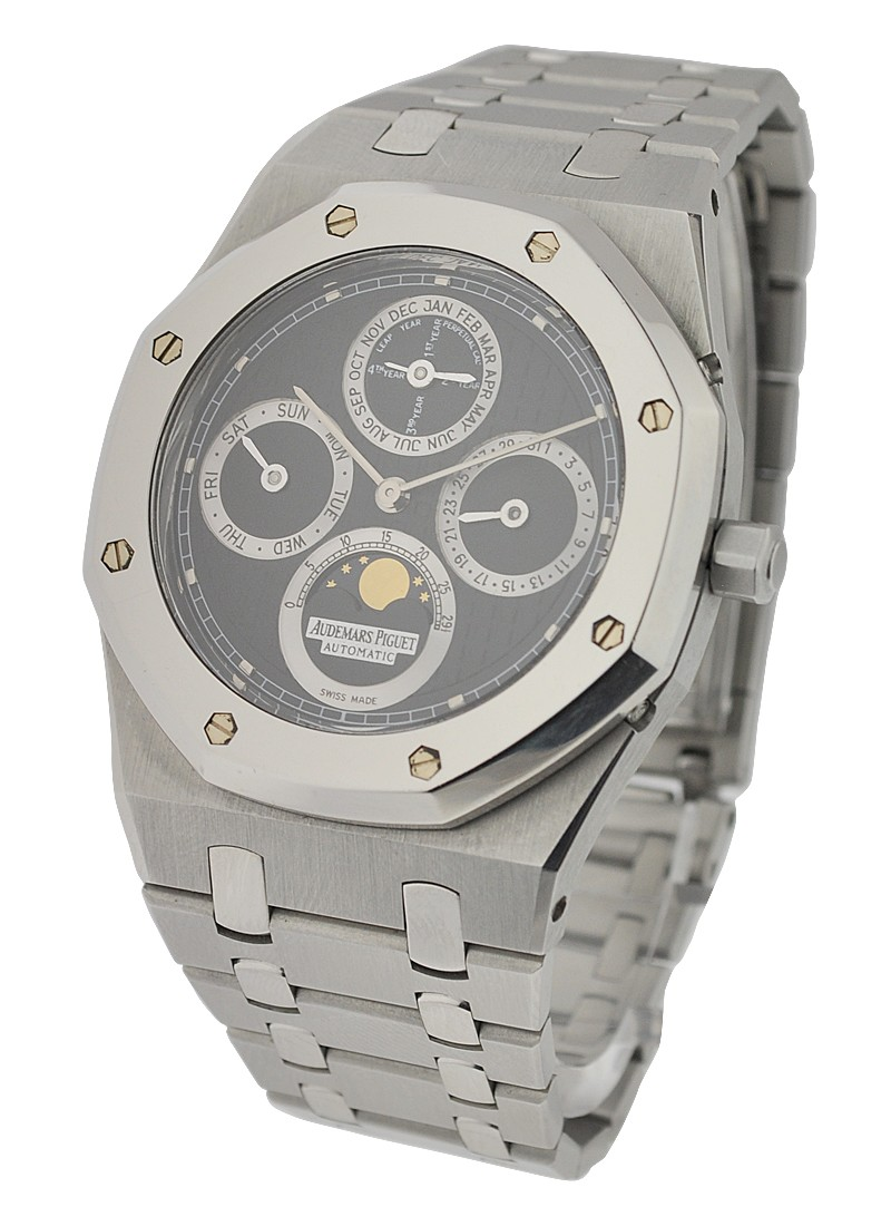 Audemars Piguet Royal Oak Perpetual Calendar Steel with Platinum Bezel
