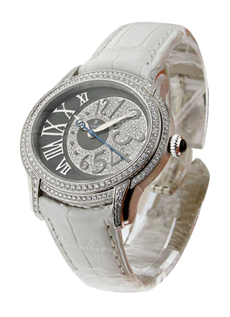 Audemars Piguet Millenary Ladies in White Gold with  Diamond Bezel