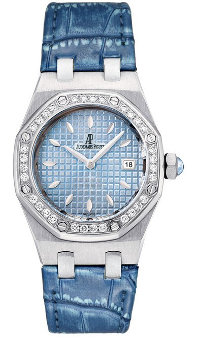 Audemars Piguet Royal Oak Ladies Gem set in Steel with Diamond Bezel