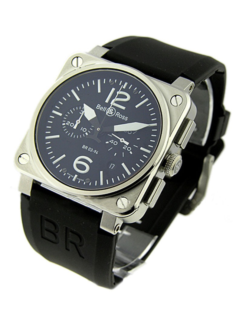 Bell & Ross BR03-94 Chronograph in Steel