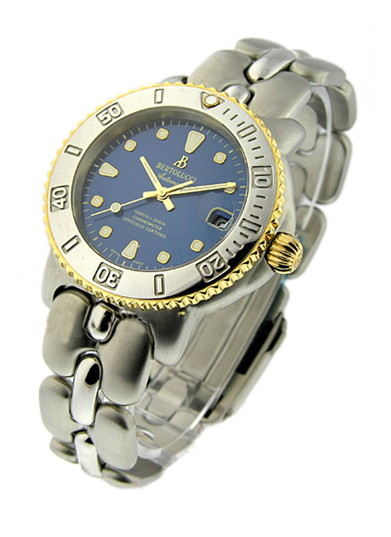 Bertolucci 2-Tone Diver in Steel with Yellow Gold Bezel