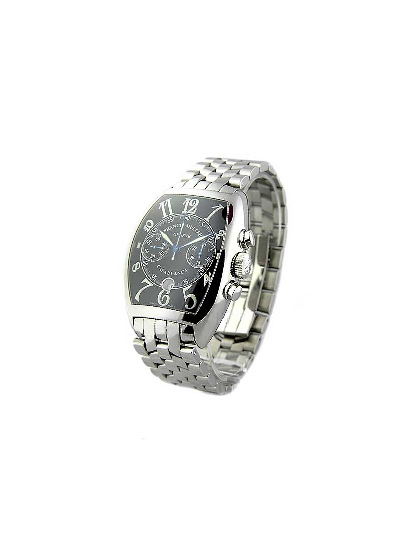 Franck Muller Casablanca Chronograph Large Size Automatic in Steel