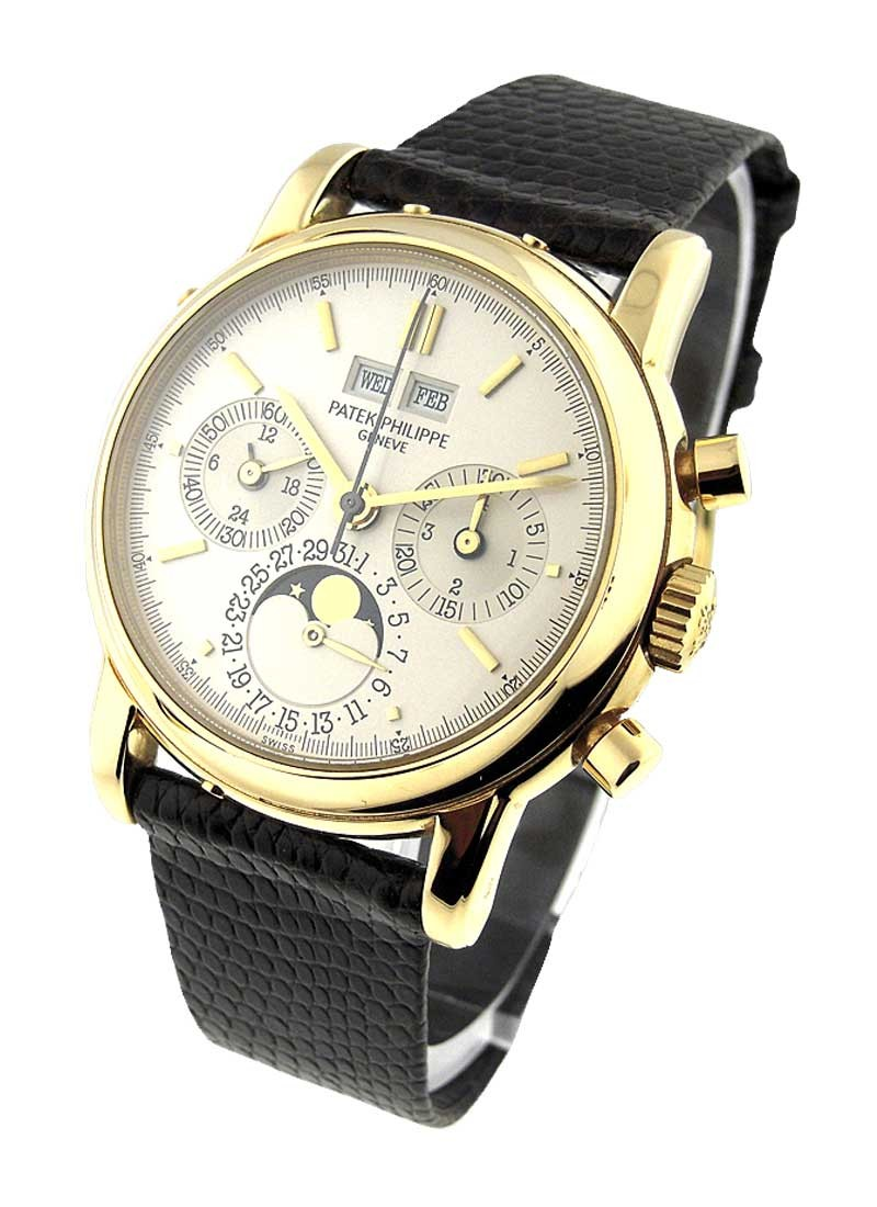 Patek Philippe Perpetual Calendar Chronograph Ref 3970EJ in Yellow Gold - Second Series