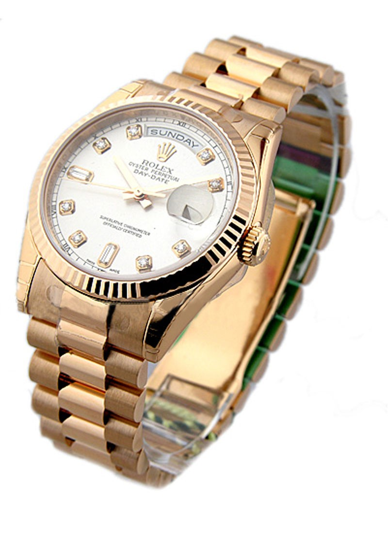 Rolex Unworn Rose Gold Men's President Day   Date   118235