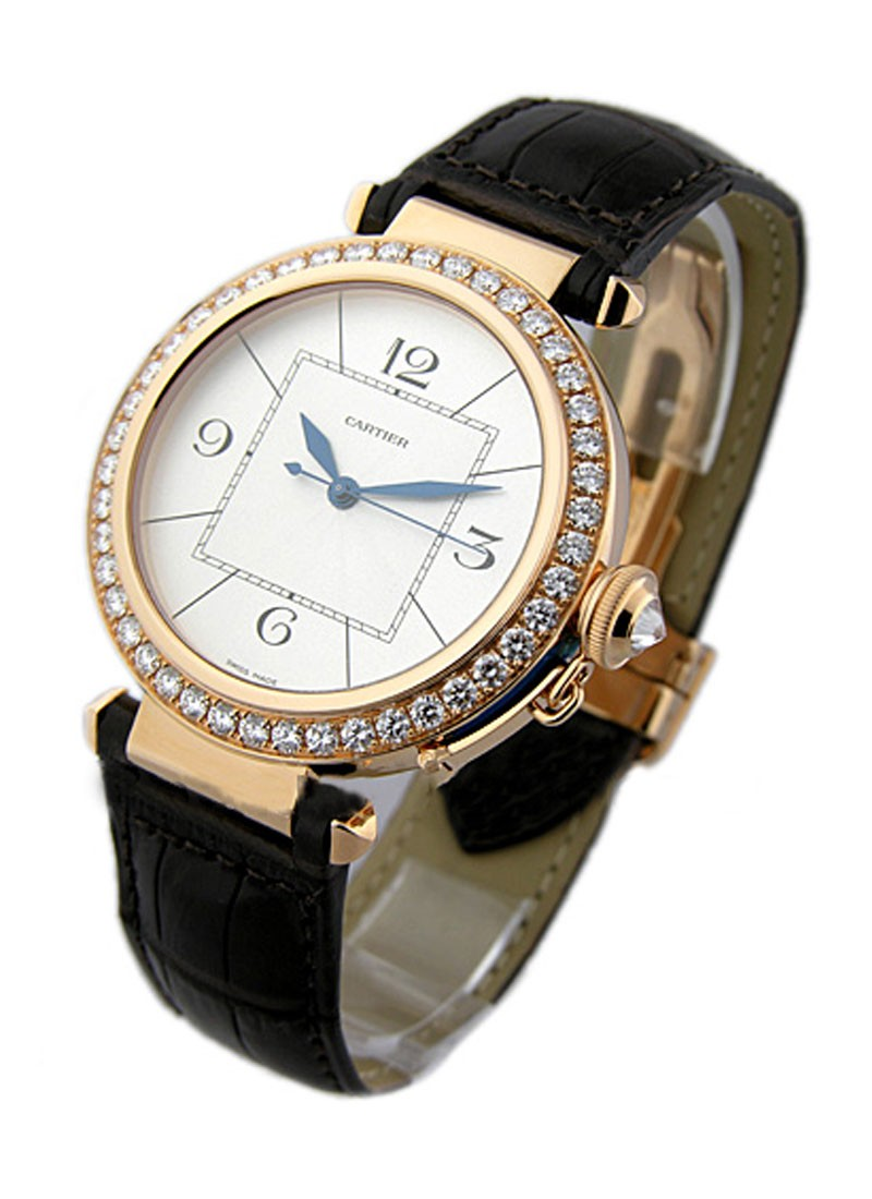 Cartier Pasha 42mm in Rose Gold with Diamond Bezel