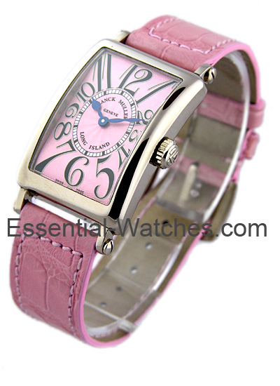 Franck Muller Lady's WG Large Size  Long Island on Strap
