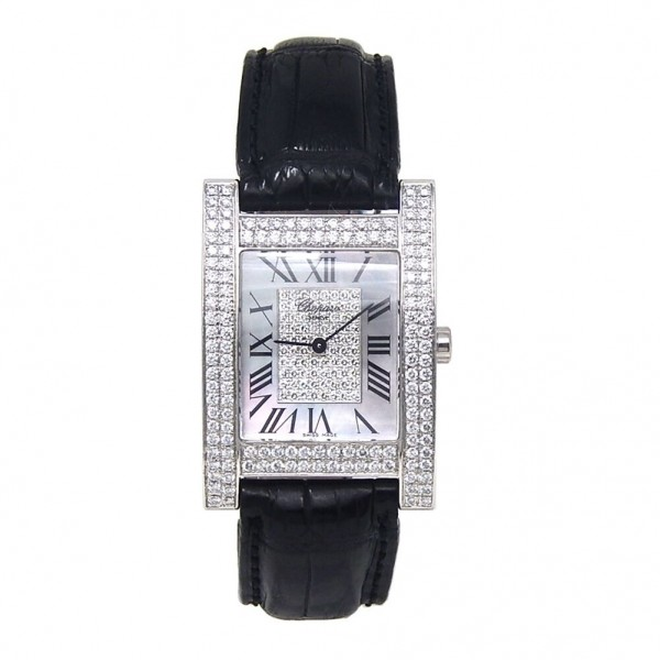 Chopard Your Hour H Watch in White Gold with Diamonds Bezel