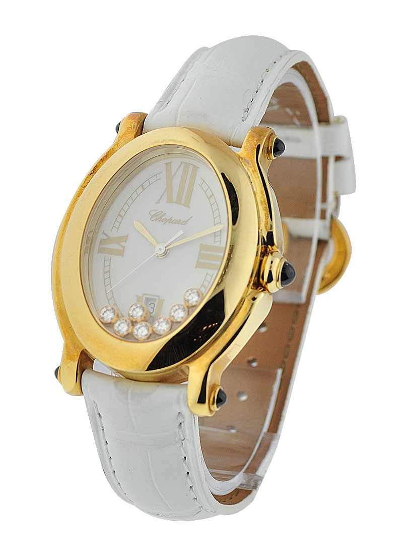 Chopard Happy Sport Oval 28mm Quartz in Yellow Gold
