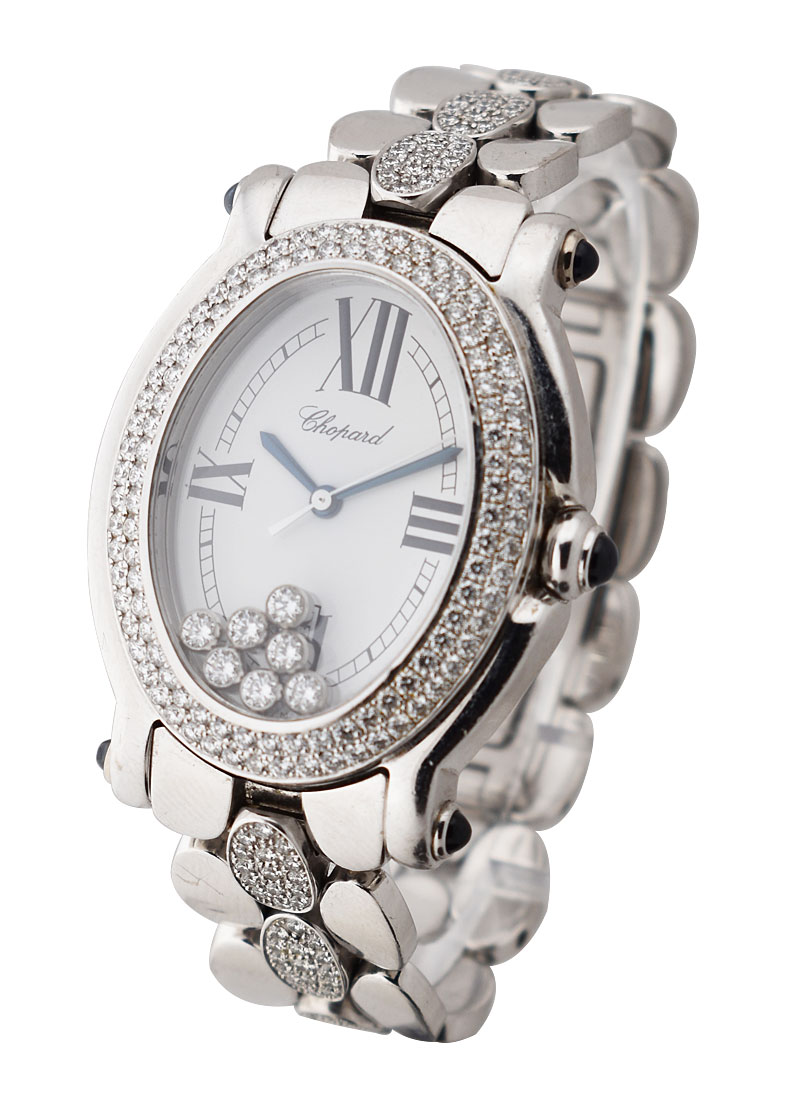 Chopard Happy Sport Oval with 2-Row Diamond Bezel
