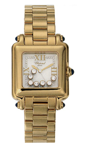 Chopard Happy Sport Square in Yellow Gold