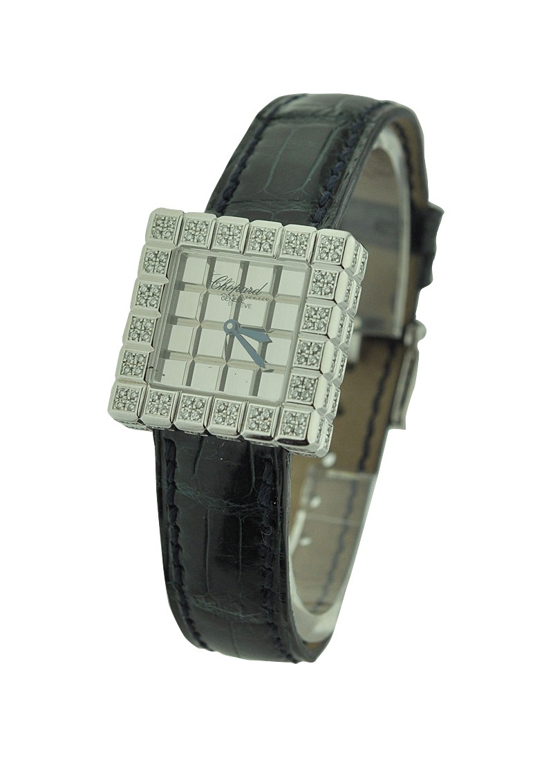 Chopard Ice Cube in White Gold with Custom Added 2 Row Diamond Bezel