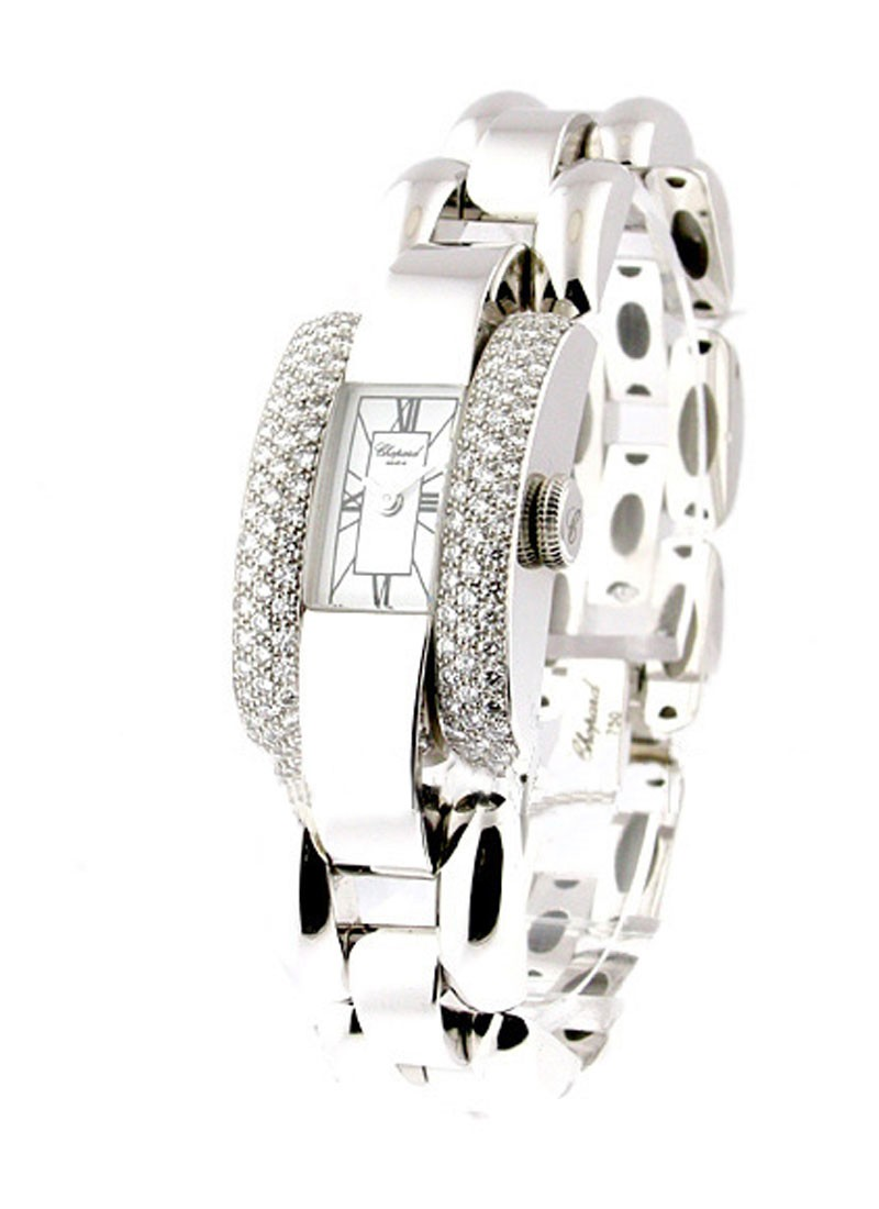 Chopard La Strada in White Gold  with Diamond Bezel