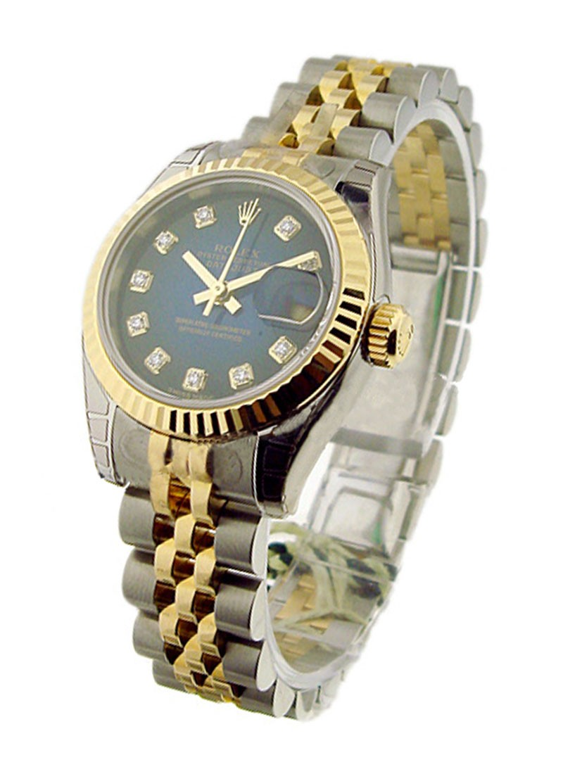 Rolex Unworn Datejust 26mm in Steel with Yellow Gold Fluted Bezel