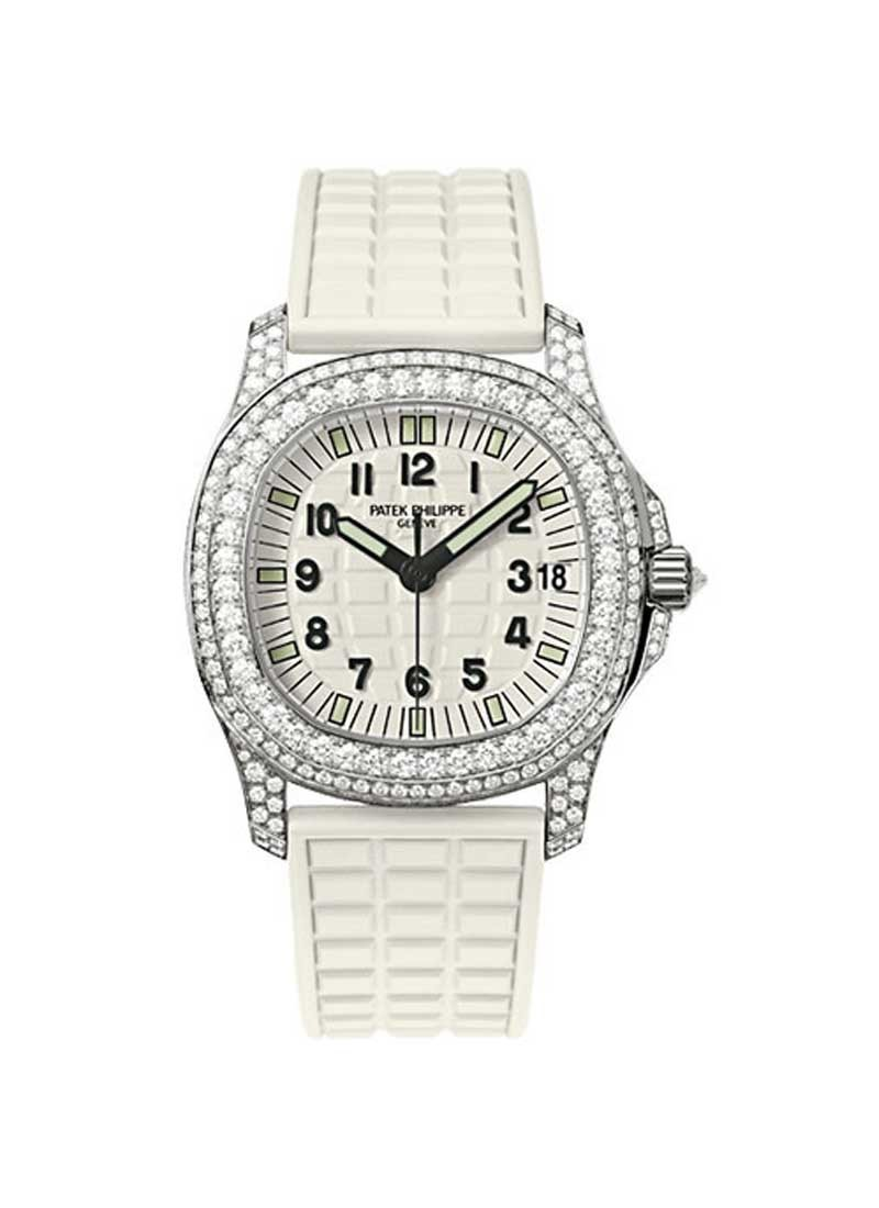 Patek Philippe Lady's Aquanaut Luce 36.4mm Automatic in White Gold with Diamonds Bezel