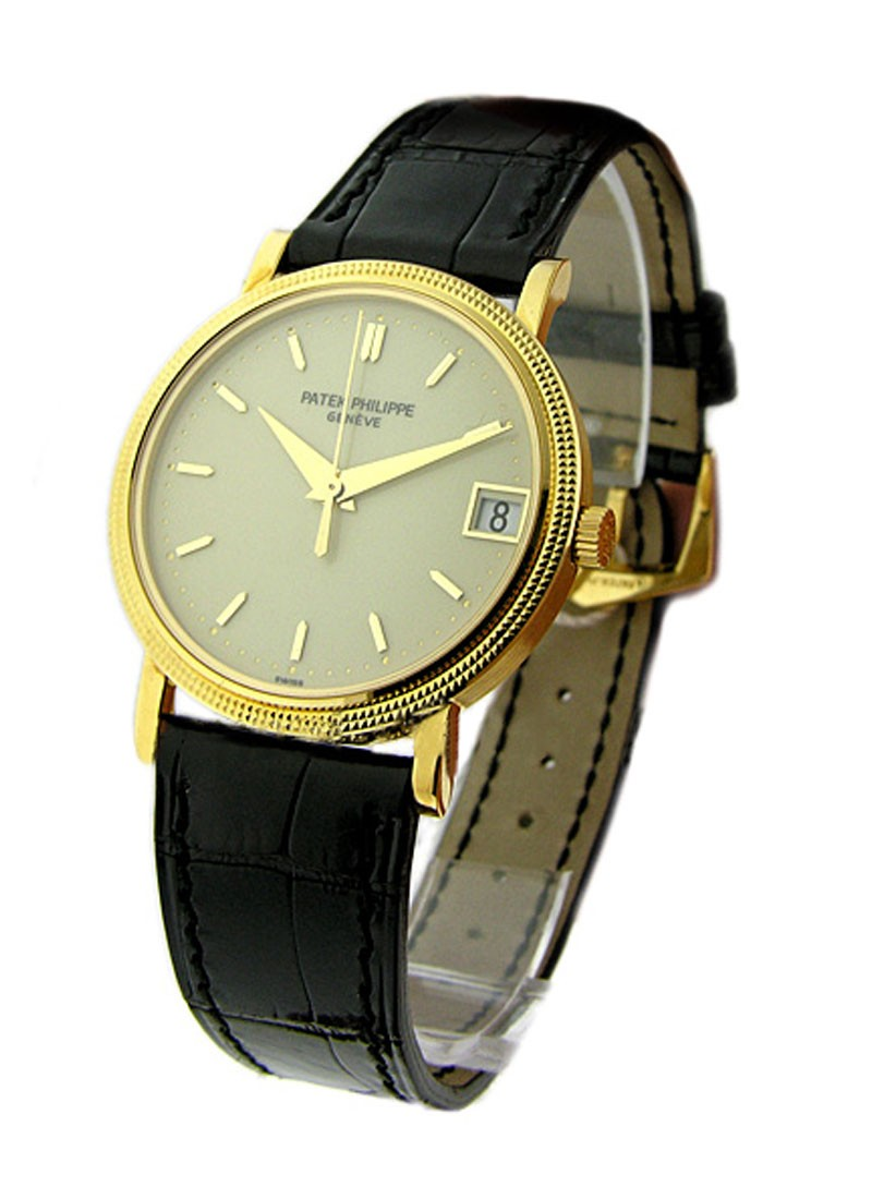 Patek Philippe Calatrava in Yellow Gold Case with Yellow Gold Bezel