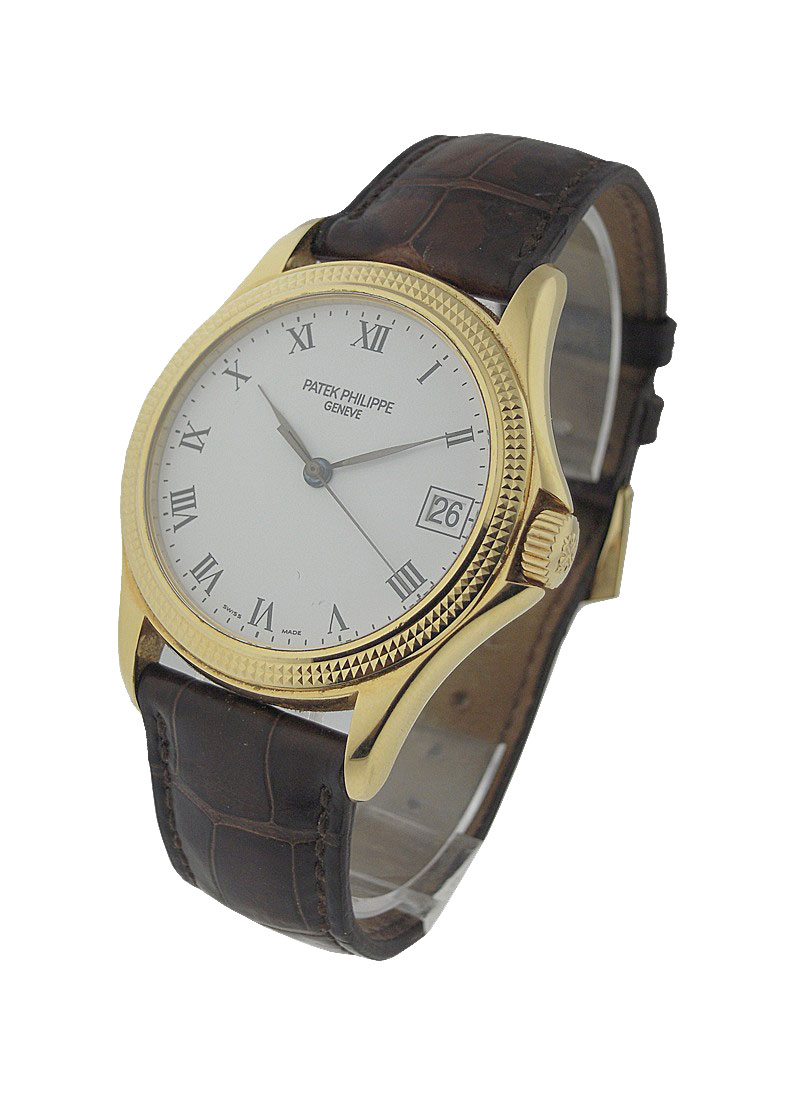 Patek Philippe 5117 Calatrava with Hobnail in Yellow Gold