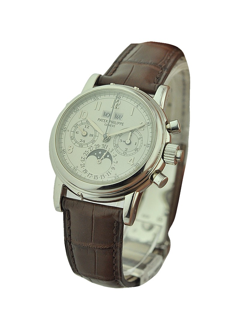 Patek Philippe 5004 Split-Second Chronograph Perpetual Calendar in Platinum