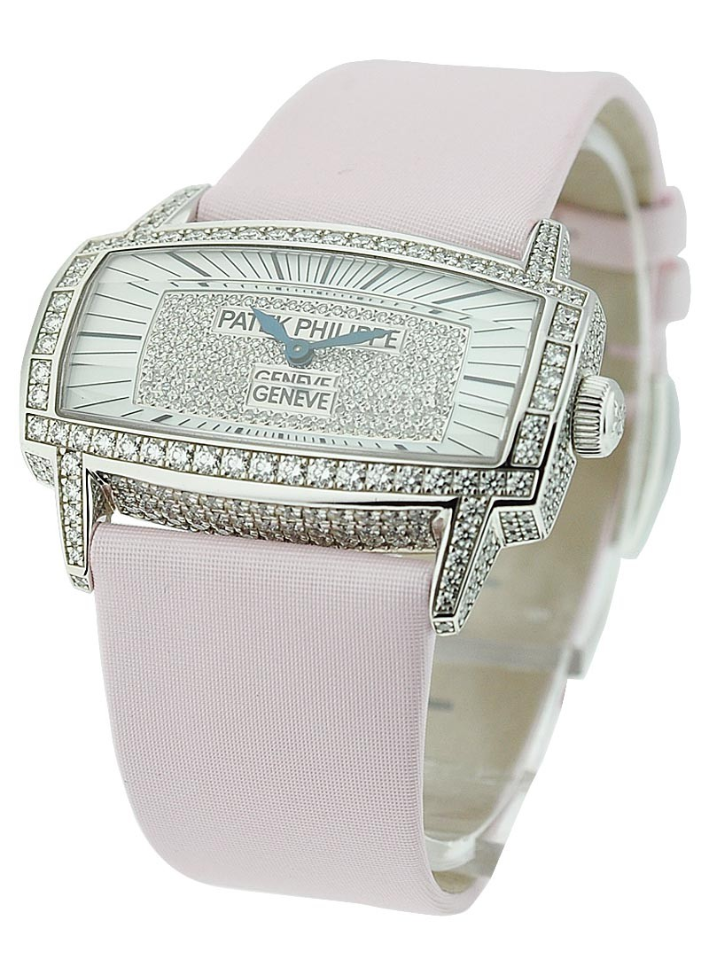 Patek Philippe Lady's Gondolo 37.2mm in White Gold with Factory Diamond Bezel