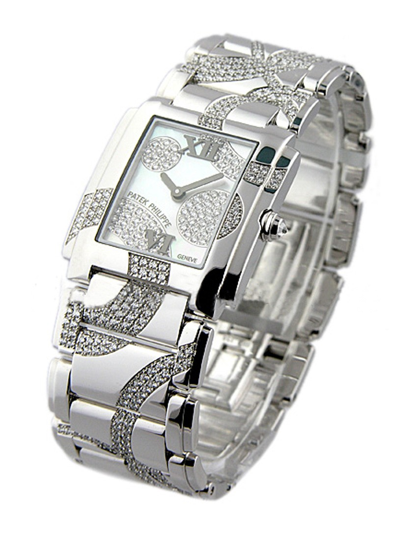 Patek Philippe Twenty-4 Ref 491049G in White Gold with Diamonds
