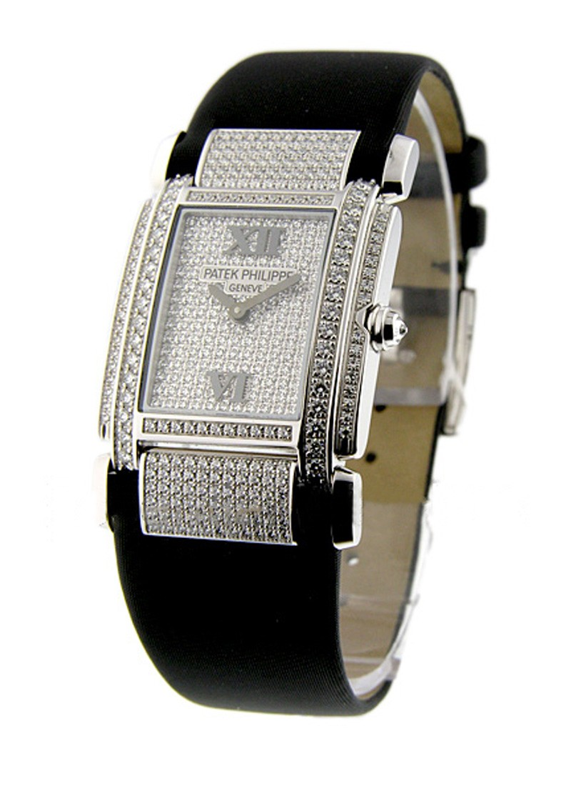 Patek Philippe 4910/G Twenty-4 with Pave Diamond Dial