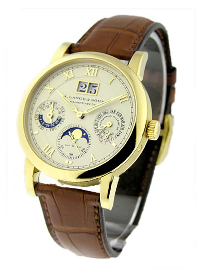 A. Lange & Sohne Langematik Perpetual Mens Automatic in Yellow Gold