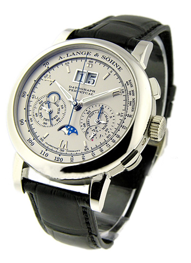 A. Lange & Sohne Datograph Perpetual Mens Mechanical in Platinum