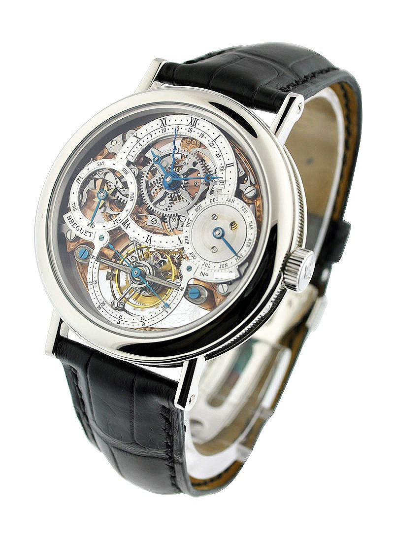 Breguet Breguet Perpetual Calendar Tourbillon Skeleton Open worked in Platinum