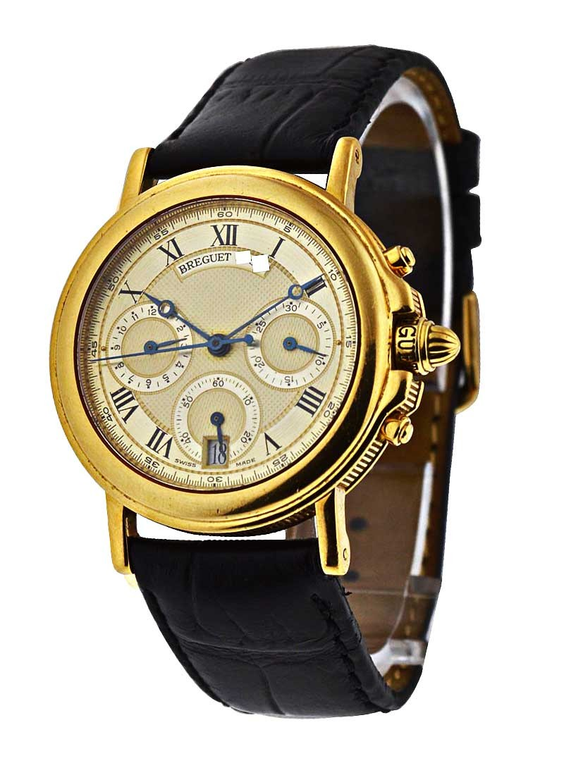 Breguet Marine Mid Size Yellow Gold Chronograph