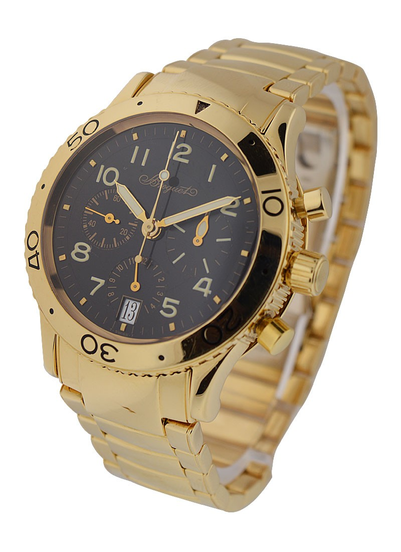 Breguet Type XX Transatlatique 40mm Automatic in Yellow Gold