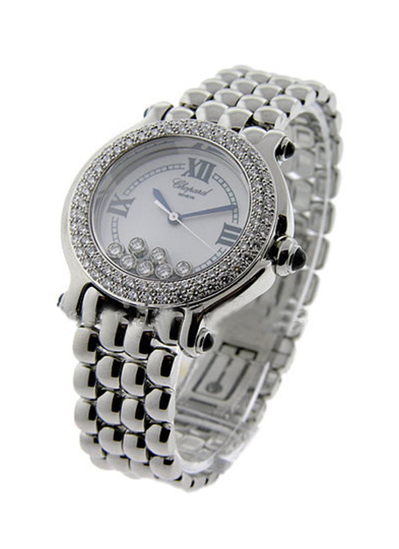 Chopard Happy Sport Round in Steel with Diamond Bezel