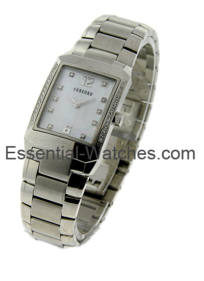 Concord Lady's Carlton - Partial Diamond Bezel