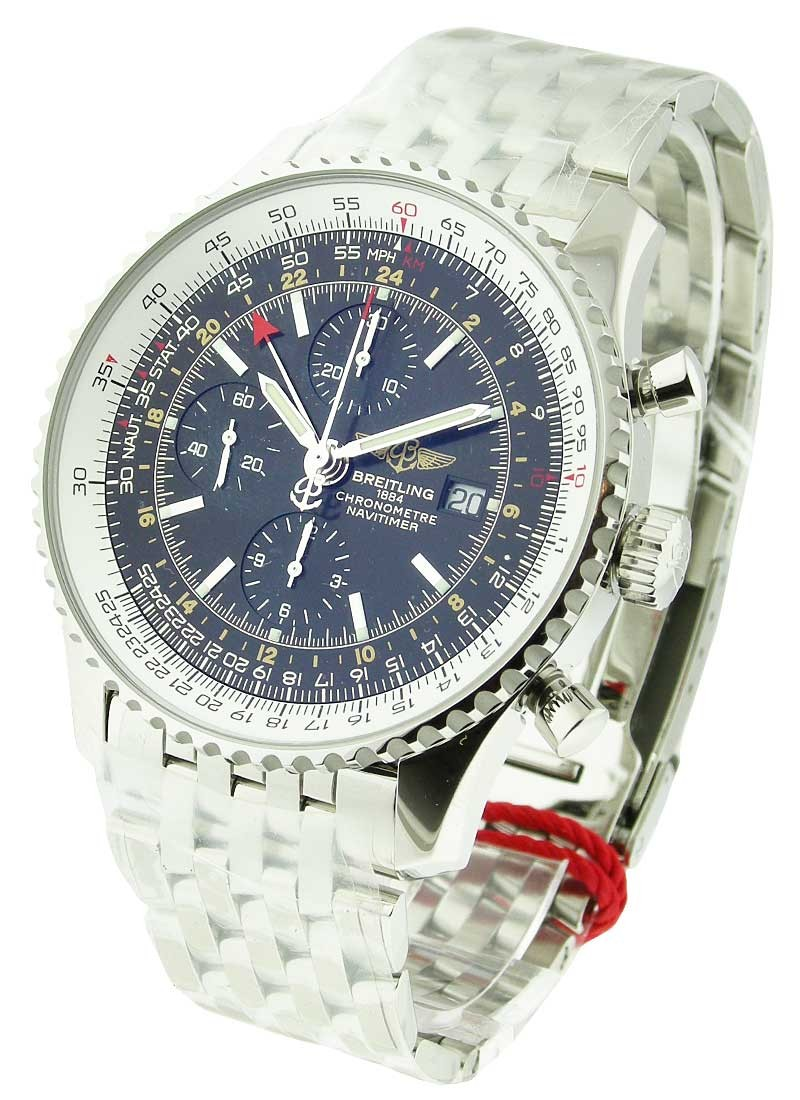 Breitling Navitimer World Chronograph Automatic in Steel