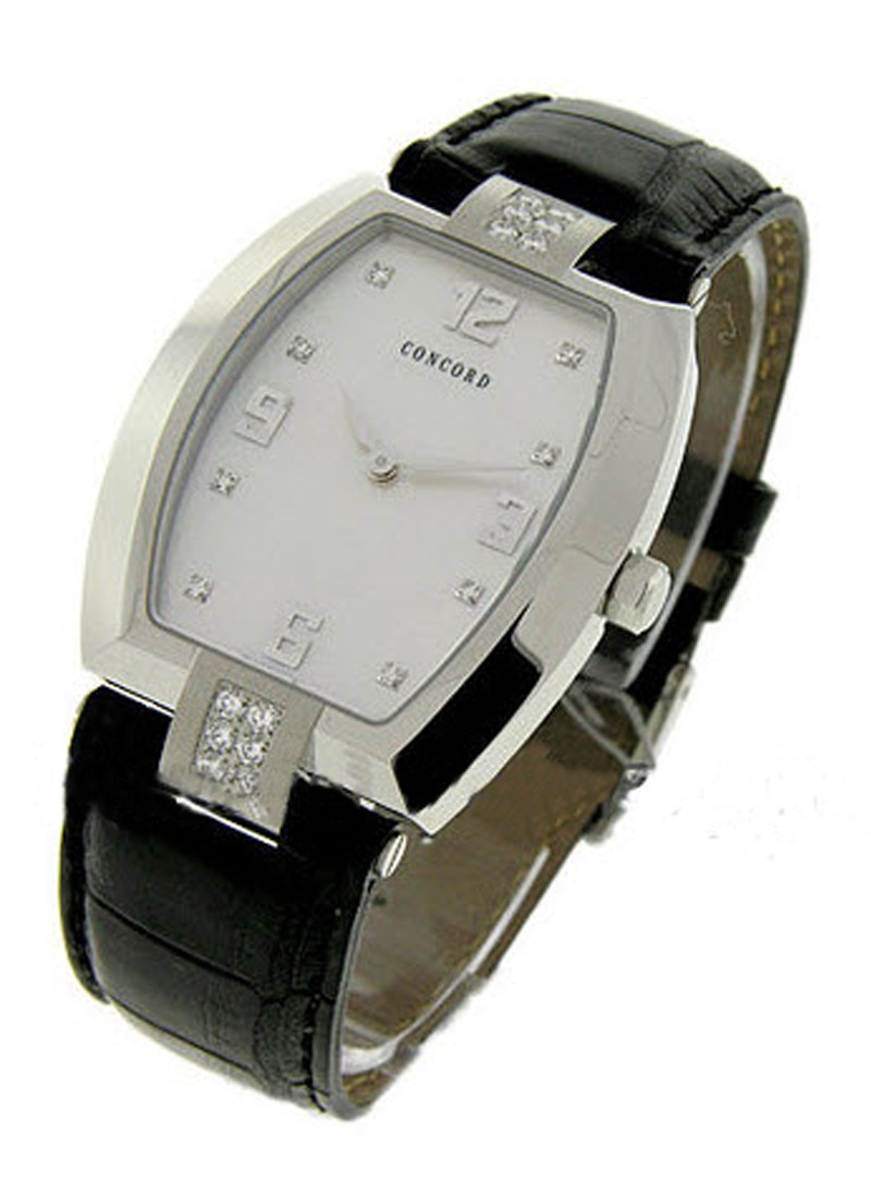 Concord Men's La Scala in Stainless Steel with Diamond lugs