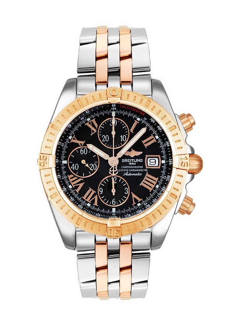 Breitling Chronomat Evolution Men's Automatic in Steel with Rose Gold Bezel