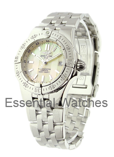 Breitling Lady''s Starliner with Yellow MOP Dial
