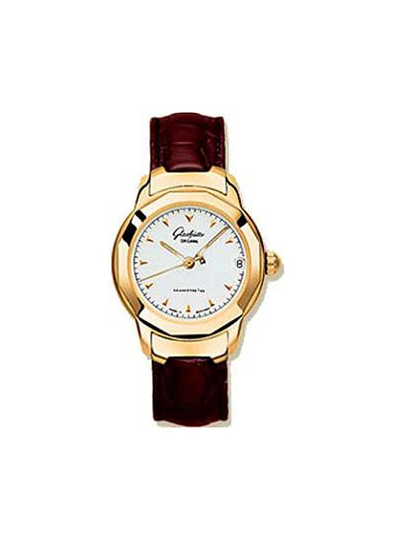 Glashutte Lady Sport 31mm Automatic in Rose Gold