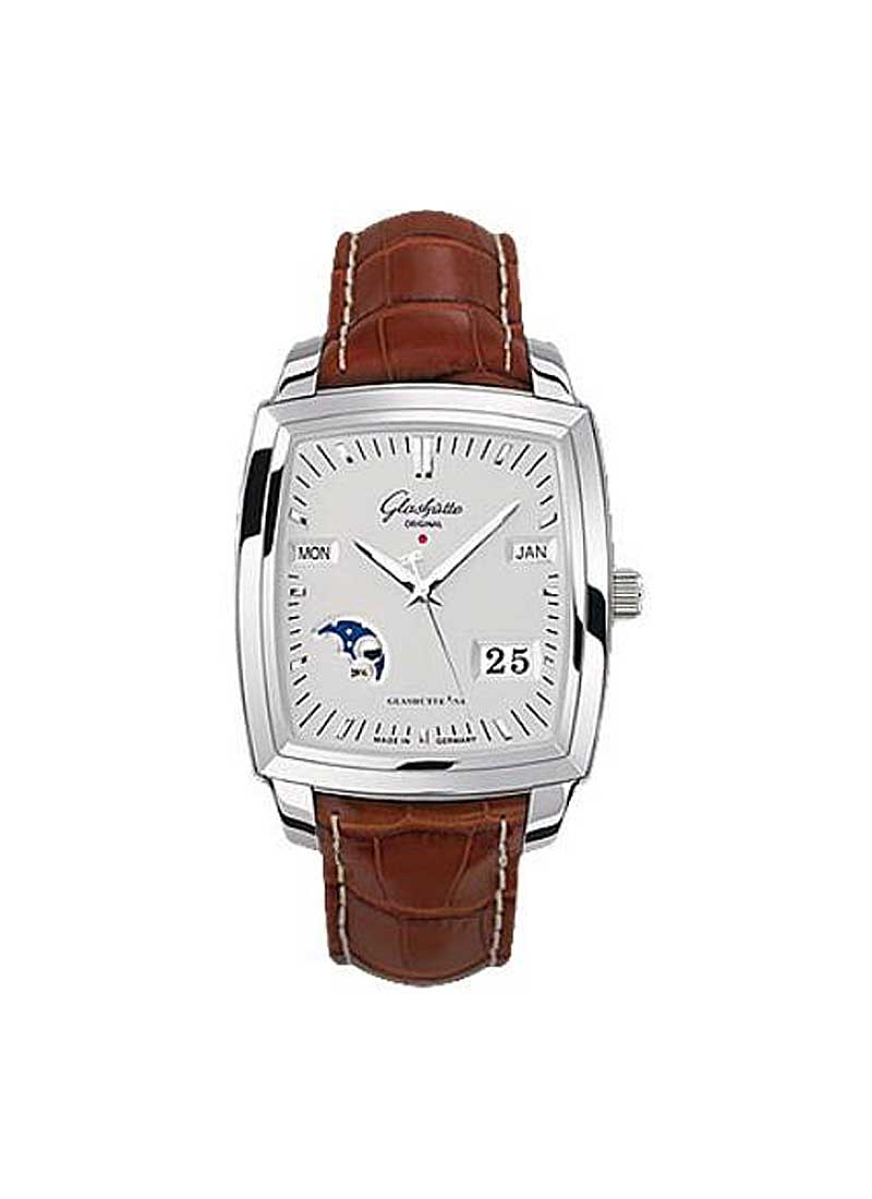 Glashutte Karree Perpetual Calendar 40mm Automatic in Steel